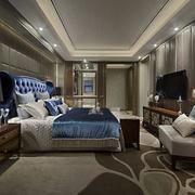 简欧式大户型卧室图