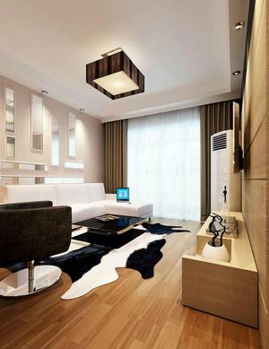 单身公寓简欧风格客厅石膏线装修效果图大全