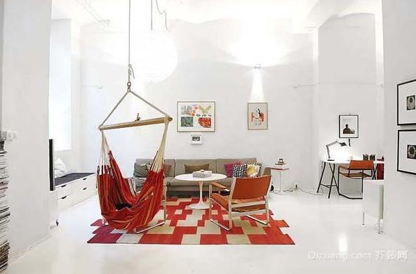 北欧多彩开放公寓家居装修效果图鉴赏