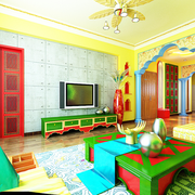 家居东南亚客厅展示