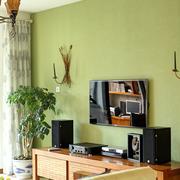 家居客厅绿色电视背景