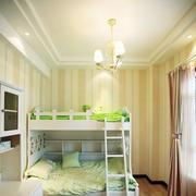 清新的儿童房双层床