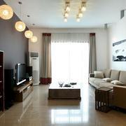 小户型公寓客厅灯布置