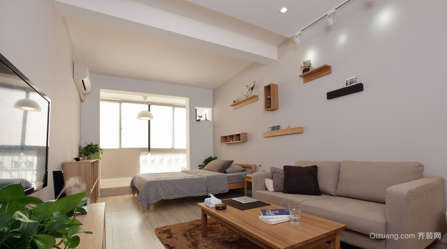 50平米整洁单身公寓装修效果图