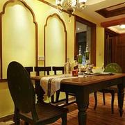 家居奢华的餐厅展示