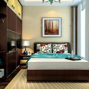 卧室条纹地毯展示