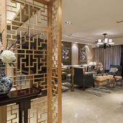 中式风格客厅隔断图