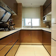 120平米现代厨房效果图