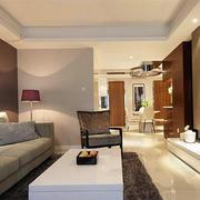 现代客厅白色茶几展示