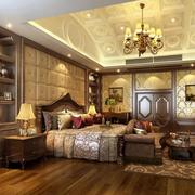 大气奢华的卧室图