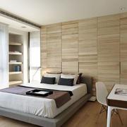卧室原木背景墙展示