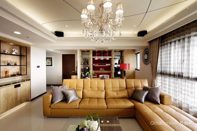浅淡黄色的混搭风格家居装修效果图
