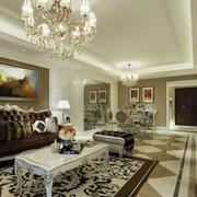 现代化的大户型客厅