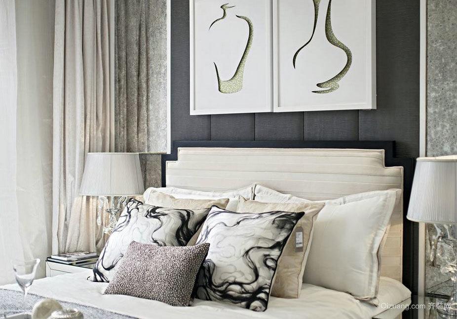 低调内敛现代欧式风格别墅主卧室装修效果图