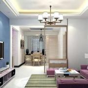 客厅蓝色电视背景