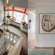 大型公寓楼梯装饰画展示