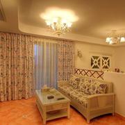 温馨的橙色客厅装修