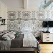 公寓卧室电视背景设计