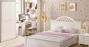 2015乡村田园风格的卧室背景墙装修效果图欣赏