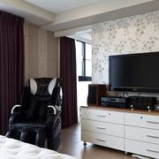 家庭卧室电视背景图