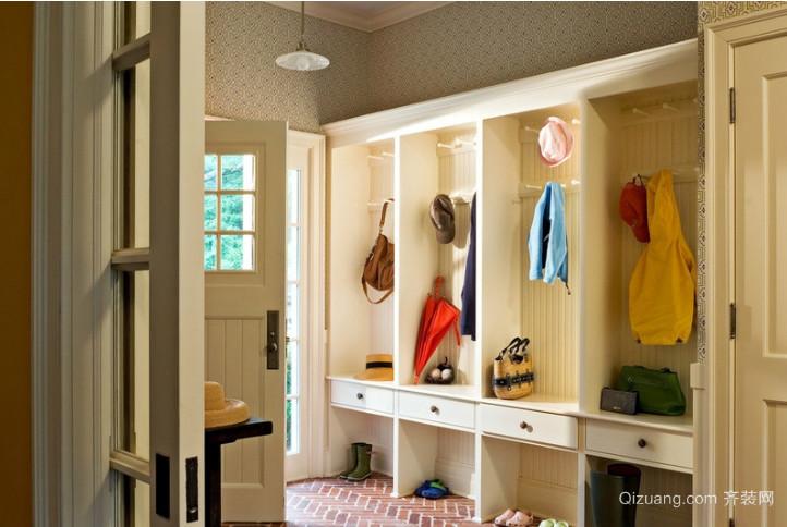 时尚特殊材质玄关鞋柜装修效果图