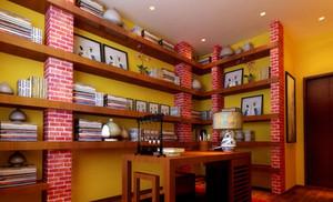 气派的中式风格别墅书房设计装修效果图鉴赏