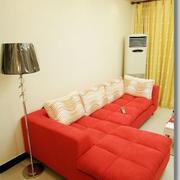 房屋红色舒适沙发