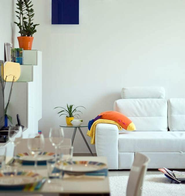 70平米简约大方小户型私人公寓装修效果图
