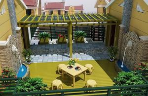 浪漫经典的法式入户花园装修效果图