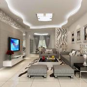 灰白色客厅装饰