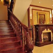 中式别致木质楼梯