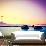 海边图案沙发背景