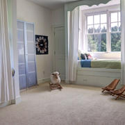 儿童卧室飘窗窗帘图