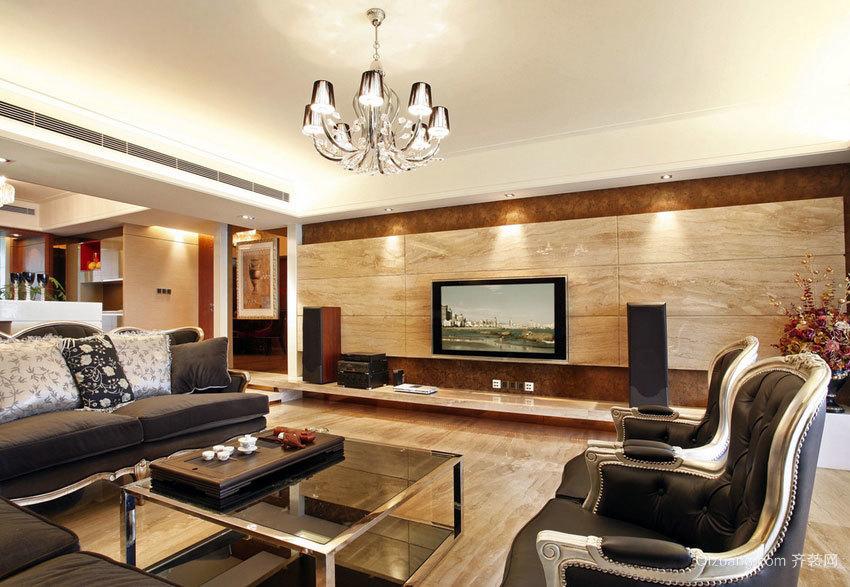 120平米经典简约欧式家居室内设计装修效果图