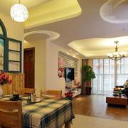 地中海风格客厅置物柜