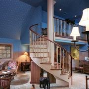 玄关铁艺楼梯设计