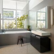 干净整洁的家庭卫生间