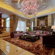 别墅客厅窗帘