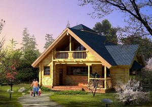 别有韵味的休闲木屋别墅装修效果图大全
