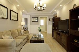 美式小清新三居室家居房子装修装饰效果图
