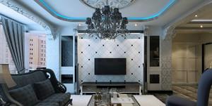 时尚客厅电视墙