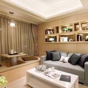 房屋客厅窗帘设计