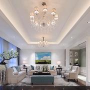 别墅长方形的客厅吊顶设计