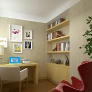 原木色书房家具