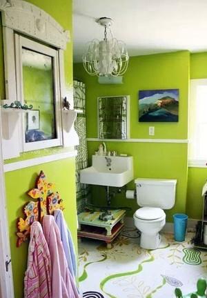 小清新超级喜爱的干净清爽的卫生间装修效果图