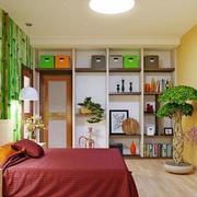 自然清新卧室图