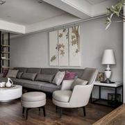 房屋朴素客厅装饰画展示