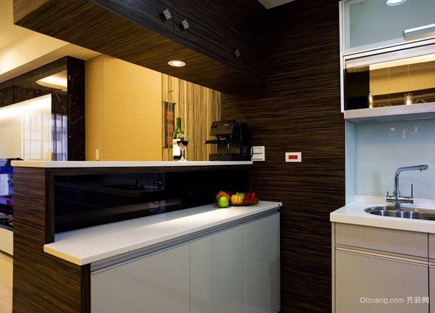 2015都市舒适的厨房吧台装修效果图大全