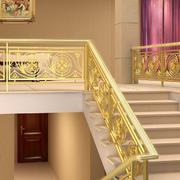 金色的室内楼梯装修图