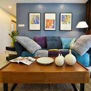 单身公寓客厅沙发装饰